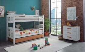 Litera madera color Convertible en 2 Camas